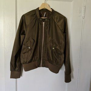 Free People Army Green Jacket, S